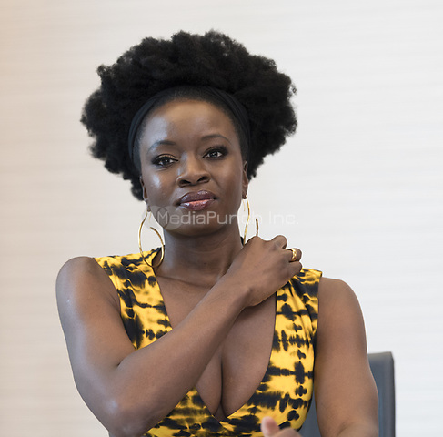 "Danai Gurira, who stars in 'Avengers: Endgame"", at the InterContinental Hotel in Los Angeles. Credit: Magnus Sundholm/Action Press/MediaPunch ***FOR USA ONLY***"