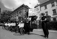 Freedom <br /> Riders for the releason of 50 jews in prison after Nixon visit to Russia<br /> , April 27, 1974<br /> <br /> <br /> PHOTO : Agence Quebec Presse
