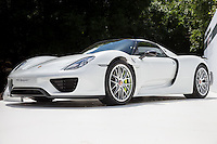 A Porsche 918 Spyder on display  at Goodwood Festival of Speed 2016 at Goodwood, Chichester, England on 24 June 2016. Photo by David Horn / PRiME Media Images