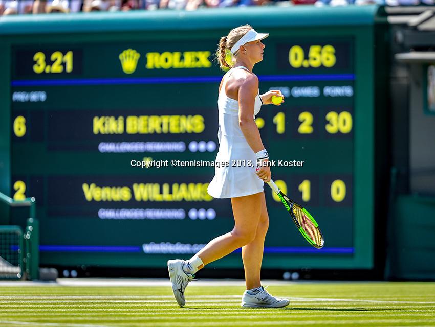 London, England, 6 th. July, 2018, Tennis,  Wimbledon, Womans singel third round, Kiki Bertens (NED) in her match against Venus Williams (USA)<br /> Photo: Henk Koster/tennisimages.com