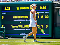 London, England, 6 th. July, 2018, Tennis,  Wimbledon, Womans singel third round, Kiki Bertens (NED) in her match against Venus Williams (USA)<br /> Photo: Henk Koster/tennisimages.com