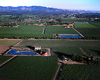 aerial photograph of farming in the California Central Valley, Yolo County, California