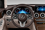 Car pictures of steering wheel view of a 2020 Mercedes Benz GLC-Coupe - 5 Door SUV Steering Wheel