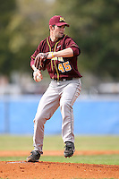 February 22, 2009:  Pitcher Tom Buske (45) of the University of Minnesota during the Big East-Big Ten Challenge at Naimoli Complex in St. Petersburg, FL.  Photo by:  Mike Janes/Four Seam Images