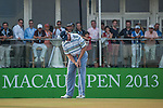 Competitors in action during the Venetian Macau Open golf tournament on October 19, 2013 at the Macau Golf & Country Club in Macau, China. Photo by Xaume Olleros / The Power of Sport Images