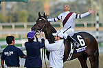 Nov. 02, 2012 - Arcadia, California, U.S - Royal Delta (KY) ridden by Mike Smith and trained by William Mott, wins the Breeders' Cup Ladies' Classic (Grade I) at Santa Anita Park in Arcadia, CA. (Credit Image: © Ryan Lasek/Eclipse/ZUMAPRESS.com)