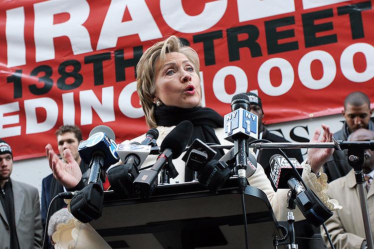 Hillary Clinton, photographer Tom Zuback