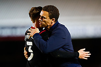 28th August 2021; Weston Homes Stadium, Peterborough, Cambridgeshire, England; EFL Championship football, Peterborough United versus West Bromwich Albion; West Bromwich Albion Head Coach Valerien Ismael congratulates Conor Townsend after the final whistle