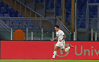 Benevento s Gianluca Lapadula, second from right, celebrates with his teammates after scoring a goal during the Serie A soccer match between Roma and Benevento at Rome's Olympic Stadium, October 18, 2020.<br /> UPDATE IMAGES PRESS/Riccardo De Luca