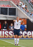 22 MAY 2010:  USA's Ali Krieger #16 during the International Friendly soccer match between Germany WNT vs USA WNT at Cleveland Browns Stadium in Cleveland, Ohio on May 22, 2010.