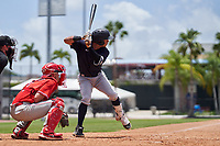 New York Yankees Jose Colmenares (12) bats during an Extended Spring Training game against the Philadelphia Phillies on June 22, 2021 at the Carpenter Complex in Clearwater, Florida. (Mike Janes/Four Seam Images)