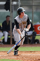 February 27, 2010:  Outfielder Ryan Durant of the Iowa Hawkeyes during the Big East/Big 10 Challenge at Raymond Naimoli Complex in St. Petersburg, FL.  Photo By Mike Janes/Four Seam Images