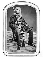 Edmund Ruffin, Fired the 1st shot in the Late War.  Killed himself at close of War. Ca. 1861. (Army)<br /> Exact Date Shot Unknown