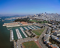 aerial photograph Marina Green Gas House Cove Fort Mason San Francisco, CA