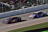 #11: Denny Hamlin, Joe Gibbs Racing, Toyota Camry FedEx Office and #47: A.J. Allmendinger, JTG Daugherty Racing, Chevrolet Camaro Kroger ClickList