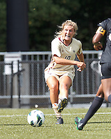 Boston College midfielder Gibby Wagner (10) passes the ball. After two overtime periods, Boston College tied University of Central Florida, 2-2, at Newton Campus Field, September 9, 2012.