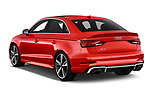 Car pictures of rear three quarter view of 2019 Audi RS-3 - 4 Door Sedan Angular Rear