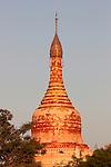Sunset over temple, Bagan, Burma