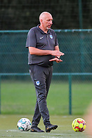 Genk's goalkeepercoach Donald Kühn pictured during a female soccer game between KRC Genk Ladies and Sporting Charleroi  on the first matchday of the 2020 - 2021 season of Belgian Women's SuperLeague , friday 28 of August 2020  in Genk , Belgium . PHOTO SPORTPIX.BE   SPP   STIJN AUDOOREN