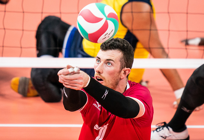Doug Learoyd, Lima 2019 - Sitting Volleyball // Volleyball assis.<br /> Canada competes for the bronze medal in men's Sitting Volleyball // Canada participe pour la médaille de bronze en volleyball assis masculin. 28/08/2019.