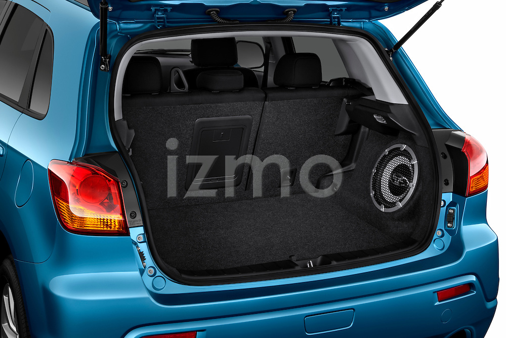 Rear trunk and cargo area of a 2011 Mitsubishi Outlander Sport SE