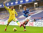 26.12.2020 Rangers v Hibs: Borna Barisic and Drey Wright