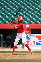 Lewys Guzman (6) during the Dominican Prospect League Elite Underclass International Series, powered by Baseball Factory, on August 1, 2017 at Silver Cross Field in Joliet, Illinois.  (Mike Janes/Four Seam Images)