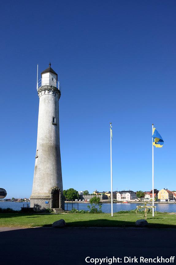 Leuchtturm auf Stumholmen in Karlskrona, Provinz Blekinge, Schweden, Europa, UNESCO-Weltkulturerbe<br /> Lighthouse on Stumholmen in Karlskrona, Province Blekinge, Sweden