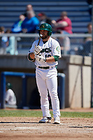Beloit Snappers second baseman Nate Mondou (10) at bat during a game against the Bowling Green Hot Rods on May 7, 2017 at Pohlman Field in Beloit, Wisconsin.  Bowling Green defeated Beloit 6-2.  (Mike Janes/Four Seam Images)