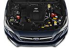 Car Stock 2021 Subaru Impreza Premium 5 Door Hatchback Engine  high angle detail view