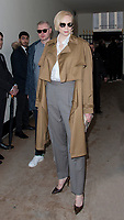 Actress Gwendoline Christie at The Louis Vuitton Show at the Paris Fashion Week Spring Summer 2018 in Paris, France, January 18 2018. # LES PEOPLE ARRIVENT AU DEFILE 'LOUIS VUITTON' LORS DE LA FASHION WEEK DE PARIS