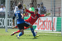 Santa Clara, California - September, 14 2014: San Jose Earthquakes face off against LA Galaxy at Buck Shaw Stadium on Sunday.
