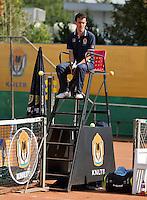 August 13, 2014, Netherlands, Raalte, TV Ramele, Tennis, National Championships, NRTK, Umpire Jeffrey Geurtntjens (NED)<br /> Photo: Tennisimages/Henk Koster