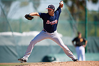 Atlanta Braves pitcher Kelvin Rodriguez (78) during a minor league Spring Training game against the Pittsburgh Pirates on March 13, 2018 at Pirate City in Bradenton, Florida.  (Mike Janes/Four Seam Images)