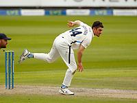 28th May 2021; Emirates Old Trafford, Manchester, Lancashire, England; County Championship Cricket, Lancashire versus Yorkshire, Day 2; Yorkshire bowler Jordan Thompson