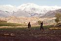Iran 1982.Peshmergas in the mountains near the border of Iraq