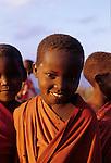 A smiling young Maasai