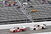 #54: Tyler Ankrum, DGR-Crosley, Toyota Tundra May's Hawaii / CROSLEY BRANDS, #63: Kyle Donahue, MB Motorsports, Chevrolet Silverado