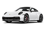 Stock pictures of low aggressive front three quarter view of 2020 Porsche 911 Carrera-S 2 Door Coupe Low Aggressive