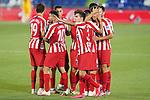 Atletico de Madrid's Felipe Augusto, Angel Correa, Saul Niguez, Diego Costa, Marcos Llorente and Manu Sanchez celebrate goal during La Liga match. July 16,2020. (ALTERPHOTOS/Acero)
