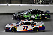 #11: Denny Hamlin, Joe Gibbs Racing, FedEx Office Toyota Camry and #51: Joey Gase, Petty Ware Racing, Page Construction Ford Mustang