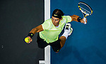 Rafael Nadal of Spain in action during the Day 6 of the PTT Thailand Open at Impact Arena on September 30, 2010 in Bangkok, Thailand. Photo by Victor Fraile / The Power of Sport Images