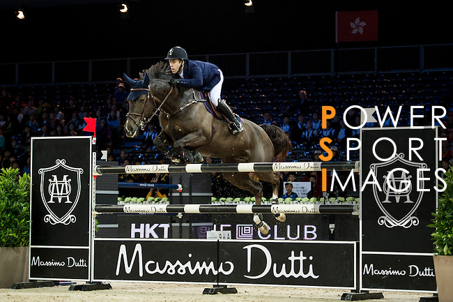 Maikel van der Vleuten on Kisby competes during competition Table A Against the Clock at the Longines Masters of Hong Kong on 19 February 2016 at the Asia World Expo in Hong Kong, China. Photo by Li Man Yuen / Power Sport Images