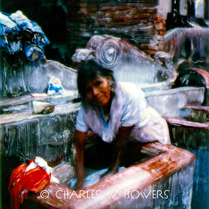The mother washes the family clothes at the public washing tubs at the village park.<br /> <br /> -Limited Edition of 50 Prints