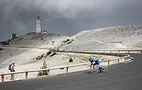 descending the Mont Ventoux<br /> <br /> Stage 11 from Sorgues to Malaucène (199km) running twice over the infamous Mont Ventoux<br /> 108th Tour de France 2021 (2.UWT)<br /> <br /> ©kramon