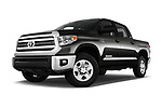 Stock pictures of low aggressive front three quarter view of 2016 Toyota Tundra SR-Crew 4 Door Pickup Low Aggressive
