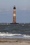 Morris Island Lighthouse near Folly Beach South Carolina