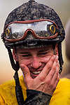 ARCADIA, CA - FEBRUARY 10: Flavien Prat after winning the San Vicente Stakes at Santa Anita Park on February 10, 2018 in Arcadia, California. (Photo by: Alex Evers/Eclipse Sportswire/Getty Images)