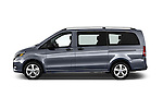 Car Driver side profile view of a 2018 Mercedes Benz Metris Passenger-Van 5 Door Passenger Van Side View