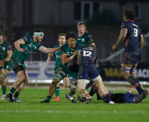 13th March 2021; Galway Sportsgrounds, Galway, Connacht, Ireland; Guinness Pro 14 Rugby, Connacht versus Edinburgh; Abraham Papali'i drives forward for Connacht
